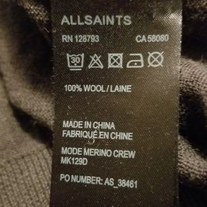 All Saints Sweaters - All Saints 'Mode Merino Crew'